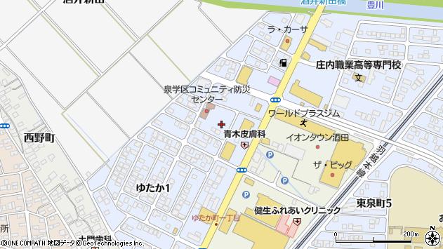 山形県酒田市ゆたか2丁目周辺の地図
