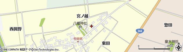 山形県酒田市牧曽根宮ノ越127周辺の地図