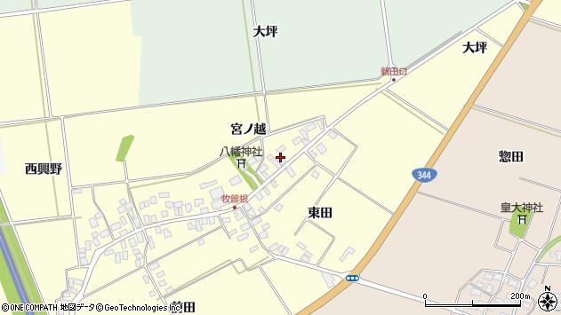 山形県酒田市牧曽根宮ノ越128周辺の地図