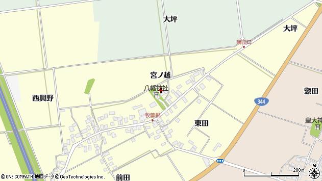 山形県酒田市牧曽根宮ノ越113周辺の地図