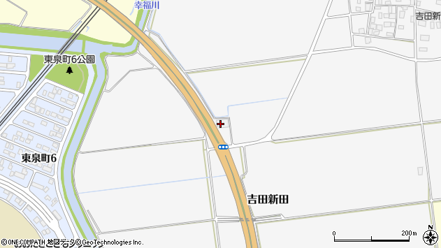 山形県酒田市吉田新田落シ端53周辺の地図