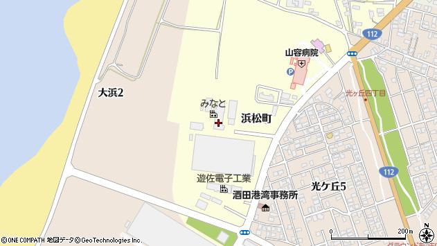山形県酒田市浜松町周辺の地図