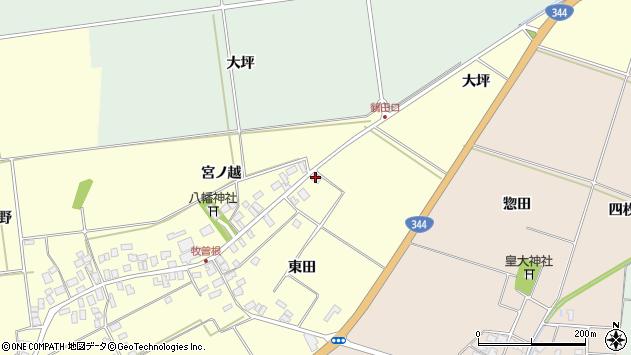 山形県酒田市牧曽根大坪周辺の地図