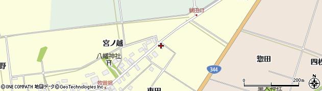 山形県酒田市牧曽根大坪23周辺の地図
