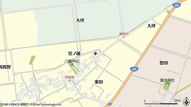 山形県酒田市牧曽根宮ノ越36周辺の地図