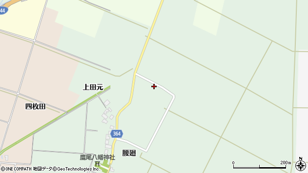 山形県酒田市漆曽根上田元7周辺の地図