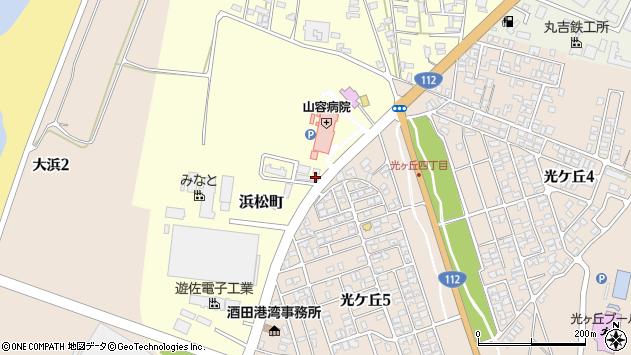山形県酒田市浜松町1周辺の地図
