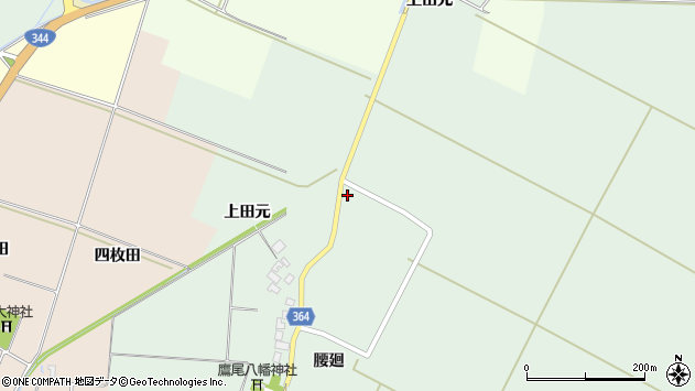 山形県酒田市漆曽根上田元110周辺の地図