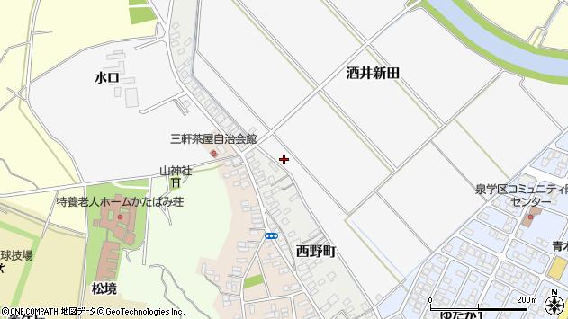 山形県酒田市酒井新田山ノ下14周辺の地図
