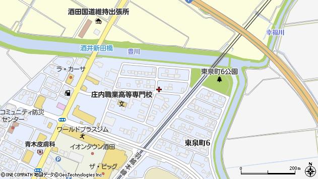 山形県酒田市ゆたか3丁目周辺の地図
