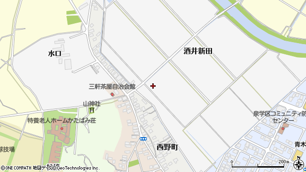 山形県酒田市酒井新田山ノ下周辺の地図