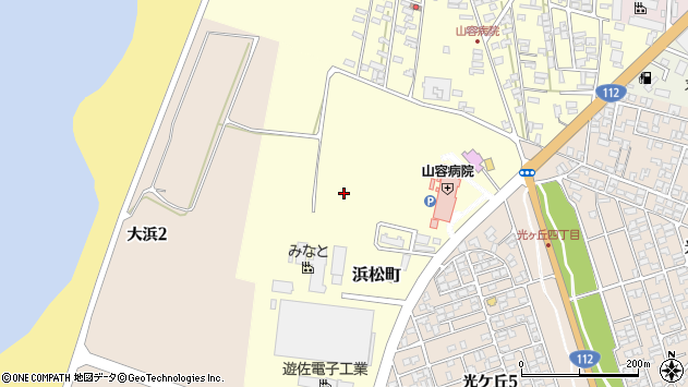 山形県酒田市浜松町3周辺の地図