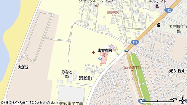 山形県酒田市浜松町2周辺の地図