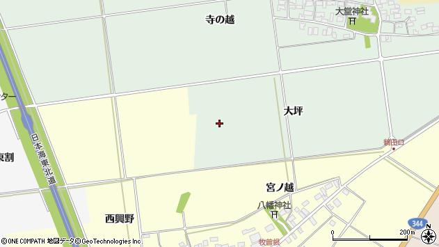 山形県酒田市鶴田大坪周辺の地図