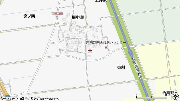 山形県酒田市吉田新田東割38周辺の地図