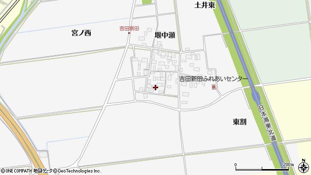 山形県酒田市吉田新田堰中瀬4周辺の地図