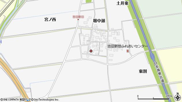 山形県酒田市吉田新田堰中瀬5周辺の地図