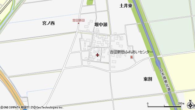 山形県酒田市吉田新田堰中瀬3周辺の地図