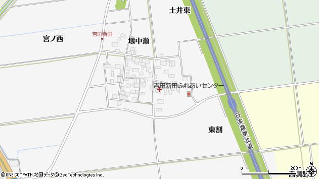 山形県酒田市吉田新田東割43周辺の地図