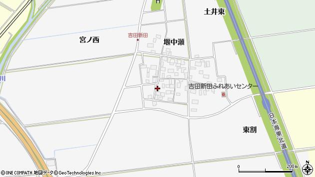山形県酒田市吉田新田堰中瀬7周辺の地図