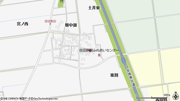 山形県酒田市吉田新田東割7周辺の地図