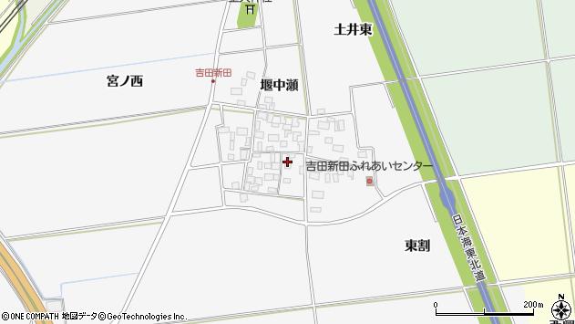 山形県酒田市吉田新田堰中瀬10周辺の地図