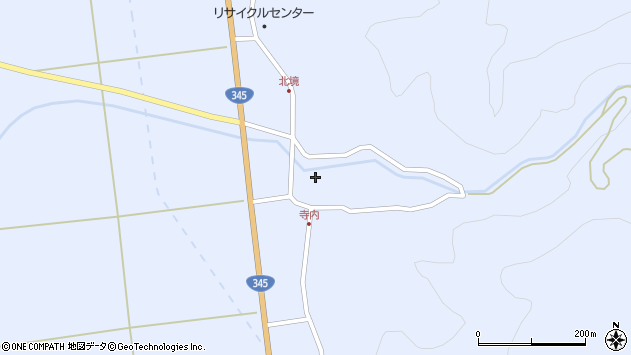 山形県酒田市北沢周辺の地図