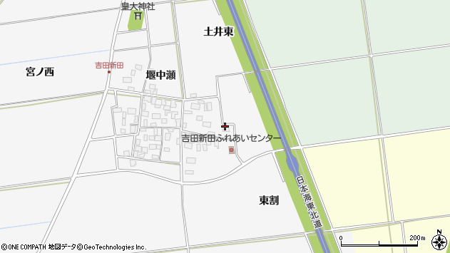 山形県酒田市吉田新田土井東54周辺の地図
