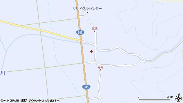 山形県酒田市北沢新川作4周辺の地図