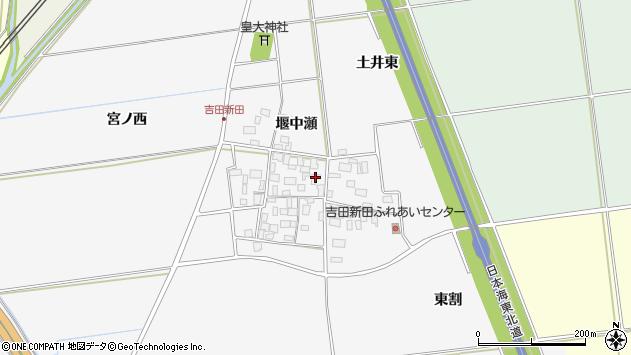 山形県酒田市吉田新田堰中瀬11周辺の地図