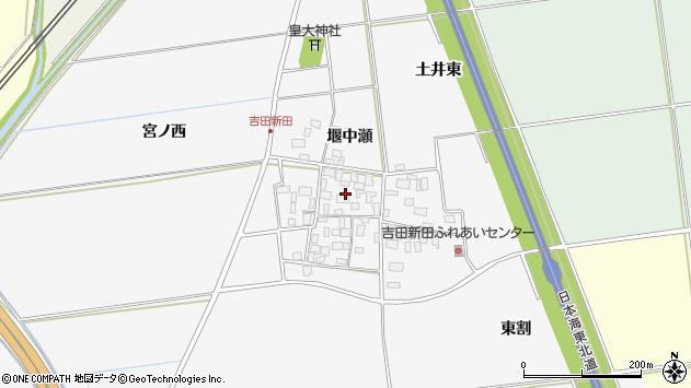 山形県酒田市吉田新田堰中瀬18周辺の地図