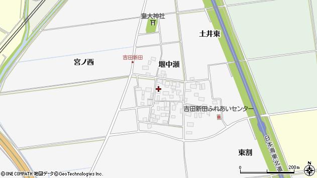 山形県酒田市吉田新田堰中瀬21周辺の地図