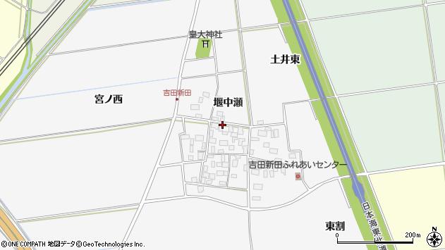 山形県酒田市吉田新田堰中瀬25周辺の地図