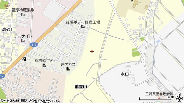 山形県酒田市高砂能登山周辺の地図