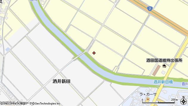 山形県酒田市豊里石割周辺の地図