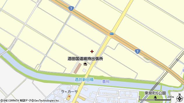 山形県酒田市豊里沼下中割周辺の地図