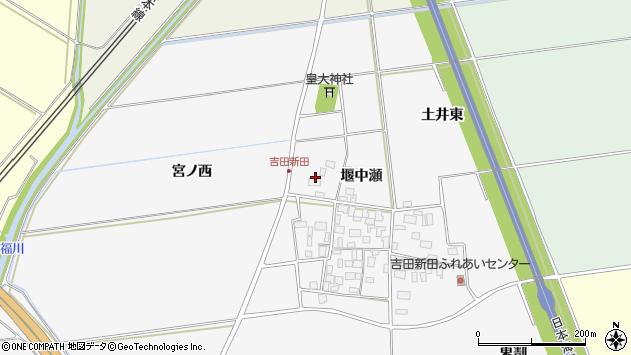 山形県酒田市吉田新田堰中瀬37周辺の地図