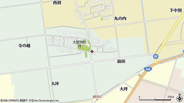 山形県酒田市鶴田前田24周辺の地図