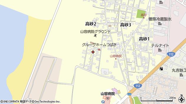 山形県酒田市高砂2丁目周辺の地図