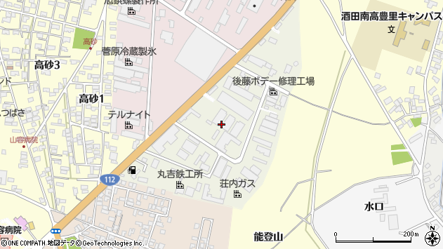 山形県酒田市松美町周辺の地図