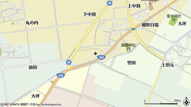 山形県酒田市上野曽根下中割93周辺の地図