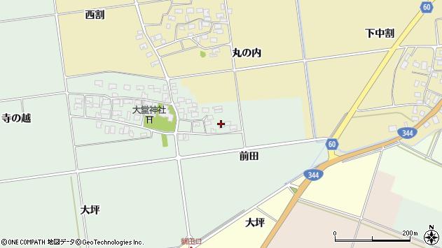 山形県酒田市鶴田前田13周辺の地図