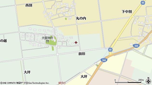 山形県酒田市鶴田前田8周辺の地図