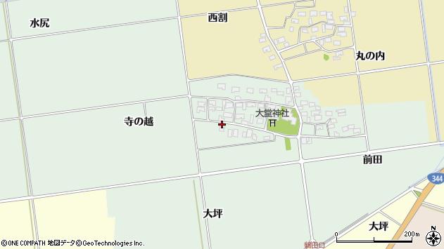 山形県酒田市鶴田寺の越16周辺の地図