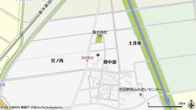 山形県酒田市吉田新田堰中瀬56周辺の地図
