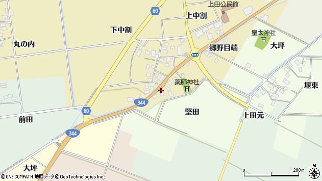 山形県酒田市上野曽根郷野目端71周辺の地図