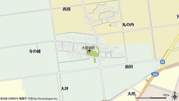 山形県酒田市鶴田寺の越5周辺の地図