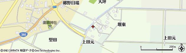 山形県酒田市上興野堰東12周辺の地図