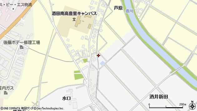山形県酒田市酒井新田道ノ下周辺の地図