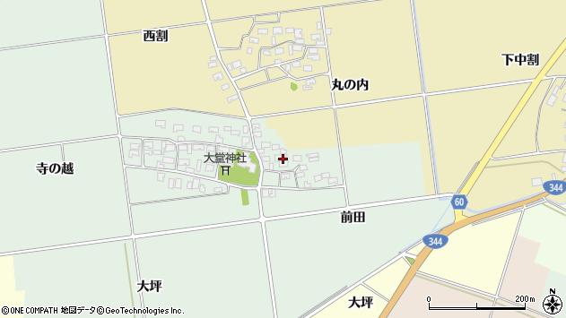 山形県酒田市鶴田寺の越34周辺の地図